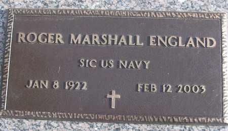 ENGLAND (VETERAN), ROGER MARSHALL - White County, Arkansas | ROGER MARSHALL ENGLAND (VETERAN) - Arkansas Gravestone Photos