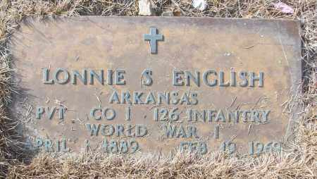 ENGLISH (VETERAN WWI), LONNIE S - White County, Arkansas | LONNIE S ENGLISH (VETERAN WWI) - Arkansas Gravestone Photos
