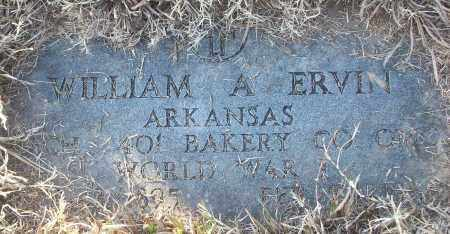 ERVIN (VETERAN WWI), WILLIAM A - White County, Arkansas | WILLIAM A ERVIN (VETERAN WWI) - Arkansas Gravestone Photos