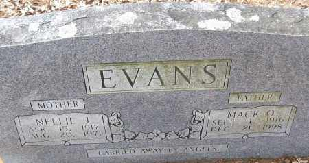 EVANS, MACK O. - White County, Arkansas | MACK O. EVANS - Arkansas Gravestone Photos
