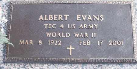 EVANS (VETERAN WWII), ALBERT - White County, Arkansas | ALBERT EVANS (VETERAN WWII) - Arkansas Gravestone Photos
