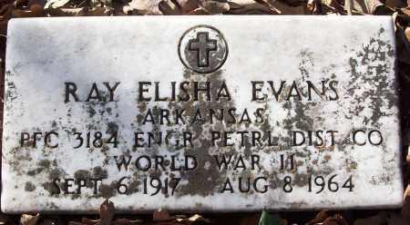 EVANS (VETERAN WWII), RAY ELISHA - White County, Arkansas | RAY ELISHA EVANS (VETERAN WWII) - Arkansas Gravestone Photos