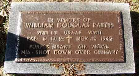 FAITH  (VETERAN WWII, KIA), WILLIAM DOUGLAS - White County, Arkansas | WILLIAM DOUGLAS FAITH  (VETERAN WWII, KIA) - Arkansas Gravestone Photos