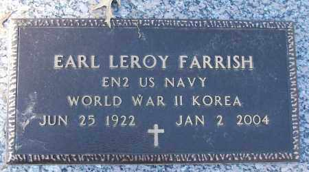 FARRISH (VETERAN 2 WARS), EARL LEROY - White County, Arkansas | EARL LEROY FARRISH (VETERAN 2 WARS) - Arkansas Gravestone Photos