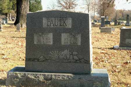 "FAULK, MARTHA ""MATTIE"" - White County, Arkansas 