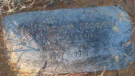 FERREN (VETERAN WWI), FRED WARD - White County, Arkansas | FRED WARD FERREN (VETERAN WWI) - Arkansas Gravestone Photos