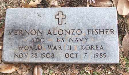 FISHER (VETERAN 2 WARS), VERNON ALONZO - White County, Arkansas | VERNON ALONZO FISHER (VETERAN 2 WARS) - Arkansas Gravestone Photos