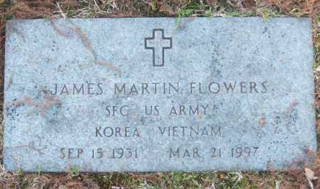 FLOWERS (VETERAN 2 WARS), JAMES MARTIN - White County, Arkansas | JAMES MARTIN FLOWERS (VETERAN 2 WARS) - Arkansas Gravestone Photos