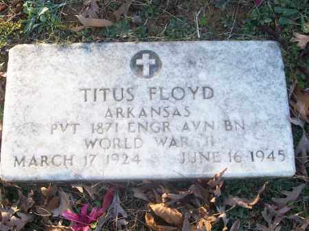 FLOYD (VETERAN WWII), TITUS - White County, Arkansas | TITUS FLOYD (VETERAN WWII) - Arkansas Gravestone Photos