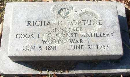 FORTUNE  (VETERAN WWI), RICHARD - White County, Arkansas | RICHARD FORTUNE  (VETERAN WWI) - Arkansas Gravestone Photos