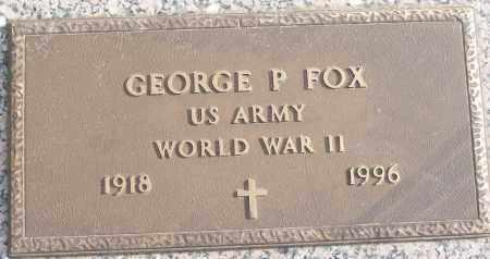 FOX (VETERAN WWII), GEORGE P - White County, Arkansas | GEORGE P FOX (VETERAN WWII) - Arkansas Gravestone Photos