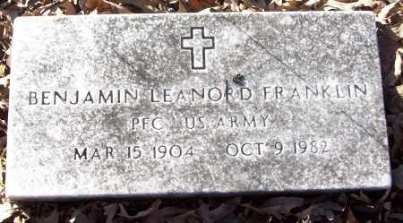 FRANKLIN (VETERAN), BENJAMIN LEANORD - White County, Arkansas | BENJAMIN LEANORD FRANKLIN (VETERAN) - Arkansas Gravestone Photos