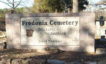 *FREDONIA CEMETERY SIGN,  - White County, Arkansas |  *FREDONIA CEMETERY SIGN - Arkansas Gravestone Photos