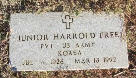 FREE (VETERAN KOR), JUNIOR HARROLD - White County, Arkansas | JUNIOR HARROLD FREE (VETERAN KOR) - Arkansas Gravestone Photos