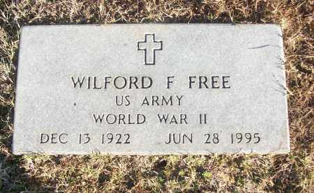 FREE (VETERAN WWII), WILFORD F - White County, Arkansas | WILFORD F FREE (VETERAN WWII) - Arkansas Gravestone Photos