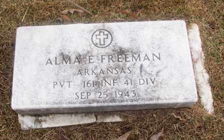 FREEMAN  (VETERAN), ALMA E - White County, Arkansas | ALMA E FREEMAN  (VETERAN) - Arkansas Gravestone Photos