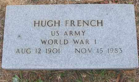 FRENCH (VETERAN WWI), HUGH - White County, Arkansas | HUGH FRENCH (VETERAN WWI) - Arkansas Gravestone Photos