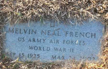 FRENCH (VETERAN WWII), MELVIN NEAL - White County, Arkansas | MELVIN NEAL FRENCH (VETERAN WWII) - Arkansas Gravestone Photos