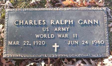 GANN (VETERAN WWII), CHARLES RALPH - White County, Arkansas | CHARLES RALPH GANN (VETERAN WWII) - Arkansas Gravestone Photos