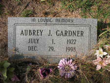 GARDNER, AUBREY J - White County, Arkansas | AUBREY J GARDNER - Arkansas Gravestone Photos
