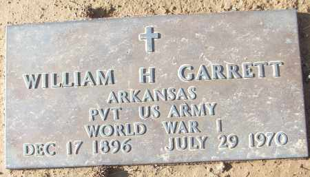 GARRETT (VETERAN WWI), WILLIAM H - White County, Arkansas | WILLIAM H GARRETT (VETERAN WWI) - Arkansas Gravestone Photos