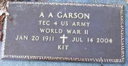 CARSON (VETERAN WWII), AUSTIN A (KIT) - White County, Arkansas | AUSTIN A (KIT) CARSON (VETERAN WWII) - Arkansas Gravestone Photos