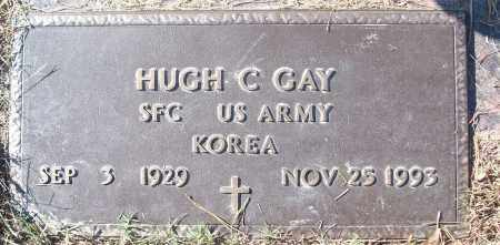 GAY (VETERAN KOR), HUGH C - White County, Arkansas | HUGH C GAY (VETERAN KOR) - Arkansas Gravestone Photos