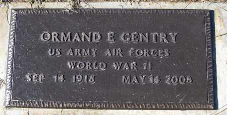 GENTRY (VETERAN WWII), ORMAND E - White County, Arkansas | ORMAND E GENTRY (VETERAN WWII) - Arkansas Gravestone Photos
