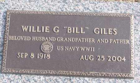 "GILES (VETERAN WWII), WILLIE G ""BILL"" - White County, Arkansas 