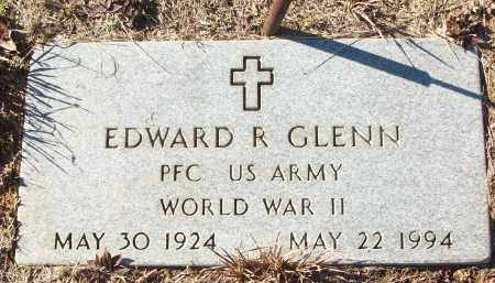 GLENN (VETERAN WWII), EDWARD R - White County, Arkansas | EDWARD R GLENN (VETERAN WWII) - Arkansas Gravestone Photos
