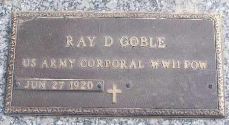GOBLE (VETERAN WWII, POW), RAY D - White County, Arkansas | RAY D GOBLE (VETERAN WWII, POW) - Arkansas Gravestone Photos