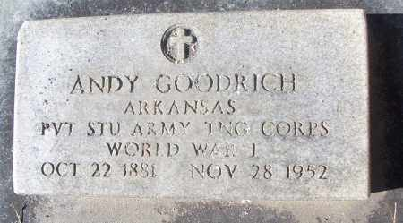 GOODRICH (VETERAN WWI), ANDY - White County, Arkansas | ANDY GOODRICH (VETERAN WWI) - Arkansas Gravestone Photos