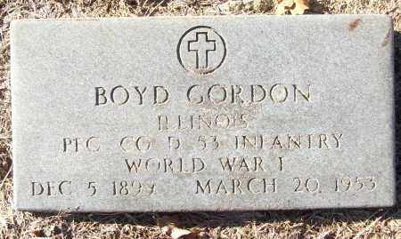 GORDON (VETERAN WWI), BOYD - White County, Arkansas | BOYD GORDON (VETERAN WWI) - Arkansas Gravestone Photos