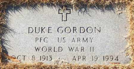 GORDON (VETERAN WWII), DUKE - White County, Arkansas | DUKE GORDON (VETERAN WWII) - Arkansas Gravestone Photos