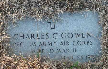 GOWEN (VETERAN WWII), CHARLES C - White County, Arkansas | CHARLES C GOWEN (VETERAN WWII) - Arkansas Gravestone Photos