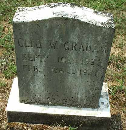 GRAHAM, CLEO W - White County, Arkansas | CLEO W GRAHAM - Arkansas Gravestone Photos