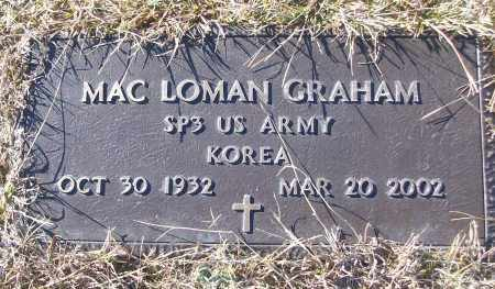 GRAHAM (VETERAN KOR), MAC LOMAN - White County, Arkansas | MAC LOMAN GRAHAM (VETERAN KOR) - Arkansas Gravestone Photos