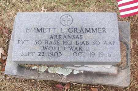 GRAMMER  (VETERAN WWII), EMMETT L - White County, Arkansas | EMMETT L GRAMMER  (VETERAN WWII) - Arkansas Gravestone Photos