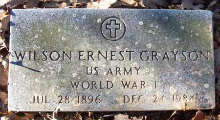 GRAYSON (VETERAN WWI), WILSON ERNEST - White County, Arkansas | WILSON ERNEST GRAYSON (VETERAN WWI) - Arkansas Gravestone Photos