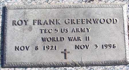 GREENWOOD (VETERAN WWII), ROY FRANK - White County, Arkansas | ROY FRANK GREENWOOD (VETERAN WWII) - Arkansas Gravestone Photos