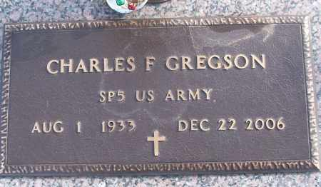 GREGSON (VETERAN), CHARLES F - White County, Arkansas | CHARLES F GREGSON (VETERAN) - Arkansas Gravestone Photos
