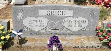 GRICE, ALVIE LEE - White County, Arkansas | ALVIE LEE GRICE - Arkansas Gravestone Photos