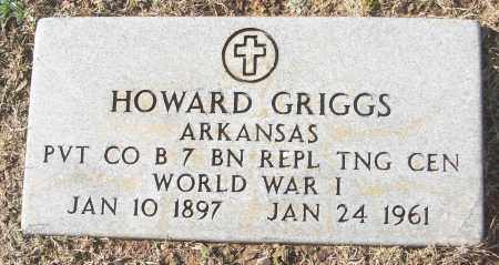 GRIGGS (VETERAN WWI), HOWARD - White County, Arkansas | HOWARD GRIGGS (VETERAN WWI) - Arkansas Gravestone Photos