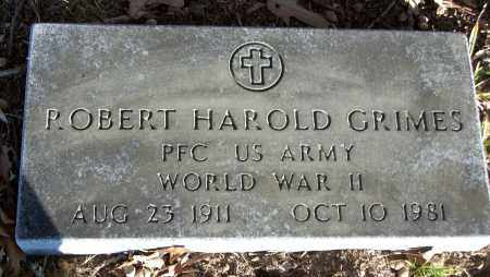 GRIMES (VETERAN WWII), ROBERT HAROLD - White County, Arkansas | ROBERT HAROLD GRIMES (VETERAN WWII) - Arkansas Gravestone Photos