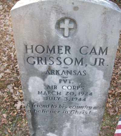 GRISSOM, JR (VETERAN), HOMER CAM - White County, Arkansas | HOMER CAM GRISSOM, JR (VETERAN) - Arkansas Gravestone Photos