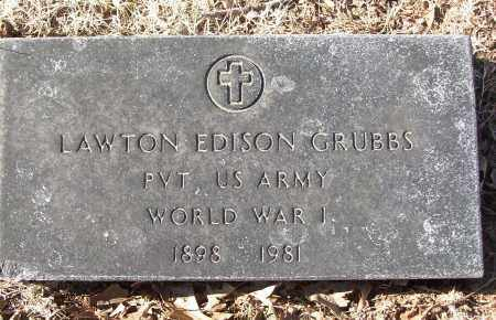 GRUBBS (VETERAN WWI), LAWTON EDISON - White County, Arkansas | LAWTON EDISON GRUBBS (VETERAN WWI) - Arkansas Gravestone Photos
