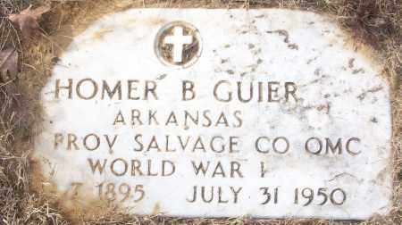 GUIER (VETERAN WWI), HOMER B - White County, Arkansas | HOMER B GUIER (VETERAN WWI) - Arkansas Gravestone Photos