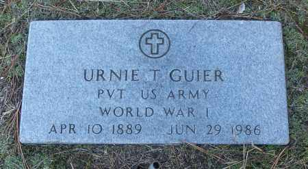 GUIER (VETERAN WWI), URNIE T - White County, Arkansas | URNIE T GUIER (VETERAN WWI) - Arkansas Gravestone Photos