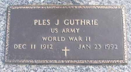 GUTHRIE (VETERAN WWII), PLES J - White County, Arkansas | PLES J GUTHRIE (VETERAN WWII) - Arkansas Gravestone Photos
