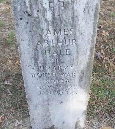 HALE (VETERAN 2 WARS), JAMES ARTHUR - White County, Arkansas | JAMES ARTHUR HALE (VETERAN 2 WARS) - Arkansas Gravestone Photos
